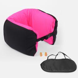 4in1 여행용 메모리폼 목쿠션(핑크)