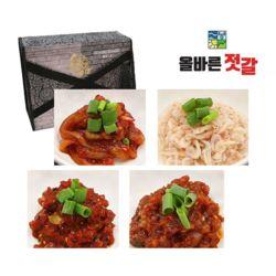 올바른 젓갈 오징어 새우 비빔낙지 씨앗 선물세트