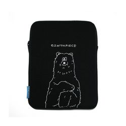 [EZwithPIECE] POLAR BEAR TABLET POUCH (BLACK)