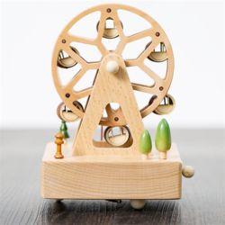 나무 원목 대만 오르골 (관람차)