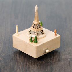 나무 원목 대만 오르골 (에펠탑)