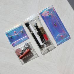 PVC 투명 파우치 카드 지갑 필통 스티커 세트 (2color)