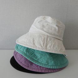 데일리 코튼 컬러 기본 벙거지 모자 버킷햇 (4color)