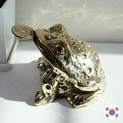엽전 문 황금 두꺼비 동공예 장식품 STD-519