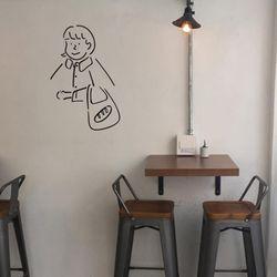 장바구니 소녀 셀프인테리어 집꾸미기 벽스티커