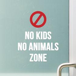No kids No animals zone 노키즈존 애완동물금지 스티커 large
