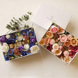 발렌타인실크플라워박스 + 페레로로쉐5T