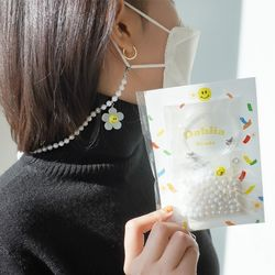 Dahlia 오로라 비즈 믹스+스마일 마스크 스트랩 목걸이 DIY