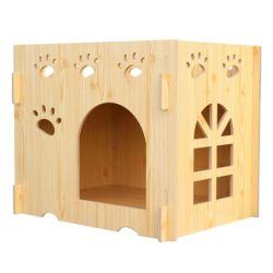 강아지 고양이 집 길고양이 길냥이 집 원목 하우스