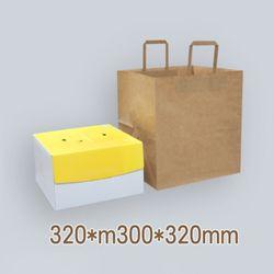 종이쇼핑백(KP) 케익3호 (1박스 200개) 320x300폭x320mm