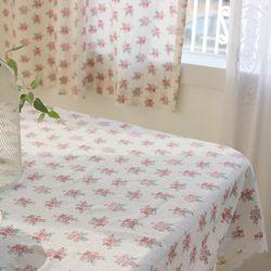 로즈가든 크로쉐 2인용 레이스 테이블보 식탁보 100x130