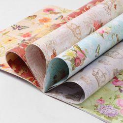 프렌치 패턴 포장지북(12매)