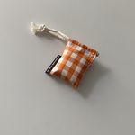 오렌지 체크 에어팟 케이스(Orange check airpods case)