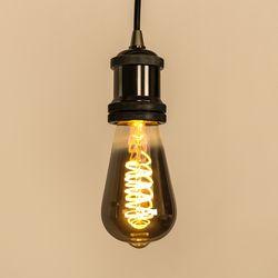 LED 에디슨전구 스파이럴 ST64 4W 스모키블랙 더쎈