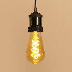 LED 에디슨전구 스파이럴 ST64 4W 골든글라스 더쎈