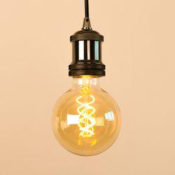 LED 에디슨전구 스파이럴 G95 4W 골든글라스 더쎈