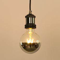 LED 에디슨전구 G95 미러 볼전구 실버 4W 더쎈