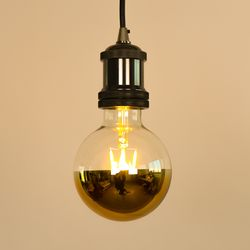LED 에디슨전구 G95 미러 볼전구 골드 4W 더쎈