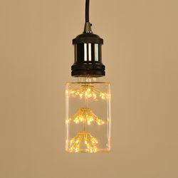 LED 에디슨전구 사각 눈꽃 큐브 C90 2.5W 넥스트아이