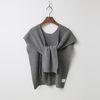 N Cashmere Wool Button Shawl