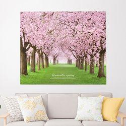 패브릭포스터 거실액자 벽장식 150x130 로맨틱스프링