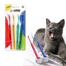 고양이 강아지 치석 제거 칫솔 4개입