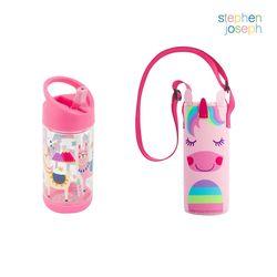 어린이집 선물 세트(물병가방+빨대물병) - 유니콘