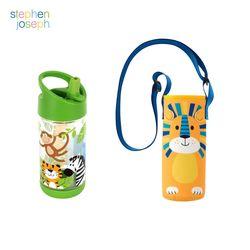 어린이집 선물 세트(물병가방+빨대물병) - 사파리