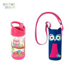 어린이집 선물 세트(물병가방+빨대물병) - 부엉이