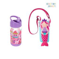 어린이집 선물 세트(물병가방+빨대물병) - 인어공주