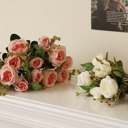 로맨틱 캐비지로즈 조화꽃부쉬 [2color]