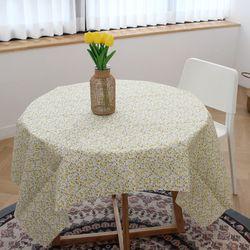패브릭 옐로우 잔꽃 테이블보70 x 70cm