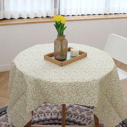 패브릭 옐로우 잔꽃 테이블보 100 x 150cm