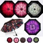 포레스트레이크 수채화3단 전자동 우산 6color