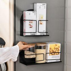초강력 자석 스텐 304 냉장고 주방 양념통 수납 선반-와이드형
