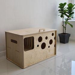 캣츠하우스 치즈 고양이 자작나무 대형 원목 화장실 국내제작