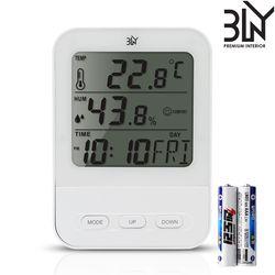 듀얼 디지털 온습도계 TH652C 알람 시계 온도 습도 휴대용 LCD