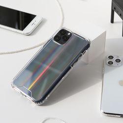 변색없는 아이폰 홀로그램 케이스 오로라 젤하드 아이폰12미니