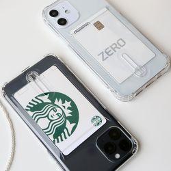 이지UP 카드투명젤리케이스 아이폰12 갤럭시S21 A30