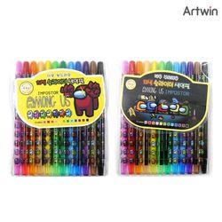 5000 어몽어스 더욱 부드러운 12색 슬라이더 색연필