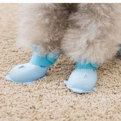 강아지 반려견 실리콘 아기상어 신발