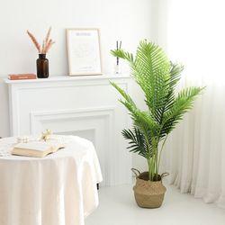 인조나무 그린 아레카야자 140cm 조화 화분 야자나무