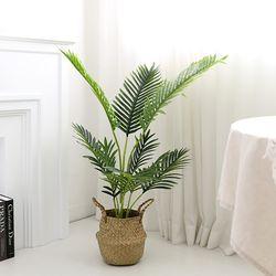 인조나무 그린 아레카야자 110cm 조화 화분 야자나무