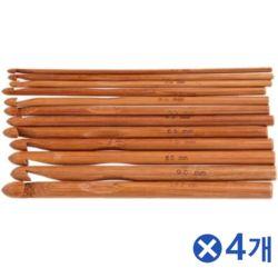 대나무 코바늘 12종x4개 코바늘용품 뜨개질용품