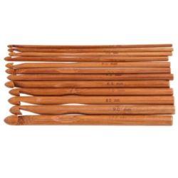 대나무 코바늘 12종 뜨개질코바늘 뜨개실바늘 뜨게질