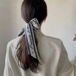 레터링 트윌리 여성 미니 쁘띠 사각 스카프