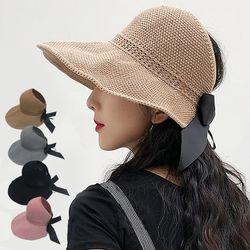 버킷햇 여자 모자 벙거지모자 밀짚 챙모자 자외선차단