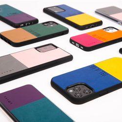 아이폰 갤럭시S 갤럭시노트 컬러 가죽 휴대폰 케이스 투컷