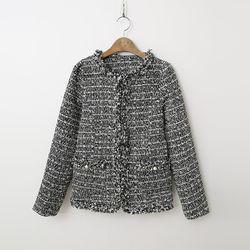 N Tweed Puff Jacket
