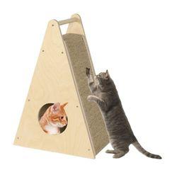 숲속의 고양이 원목 스크래쳐 타워 숨숨집